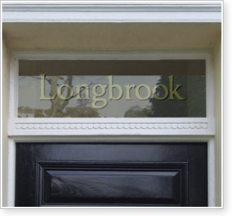Traditional transom window / fanlight text
